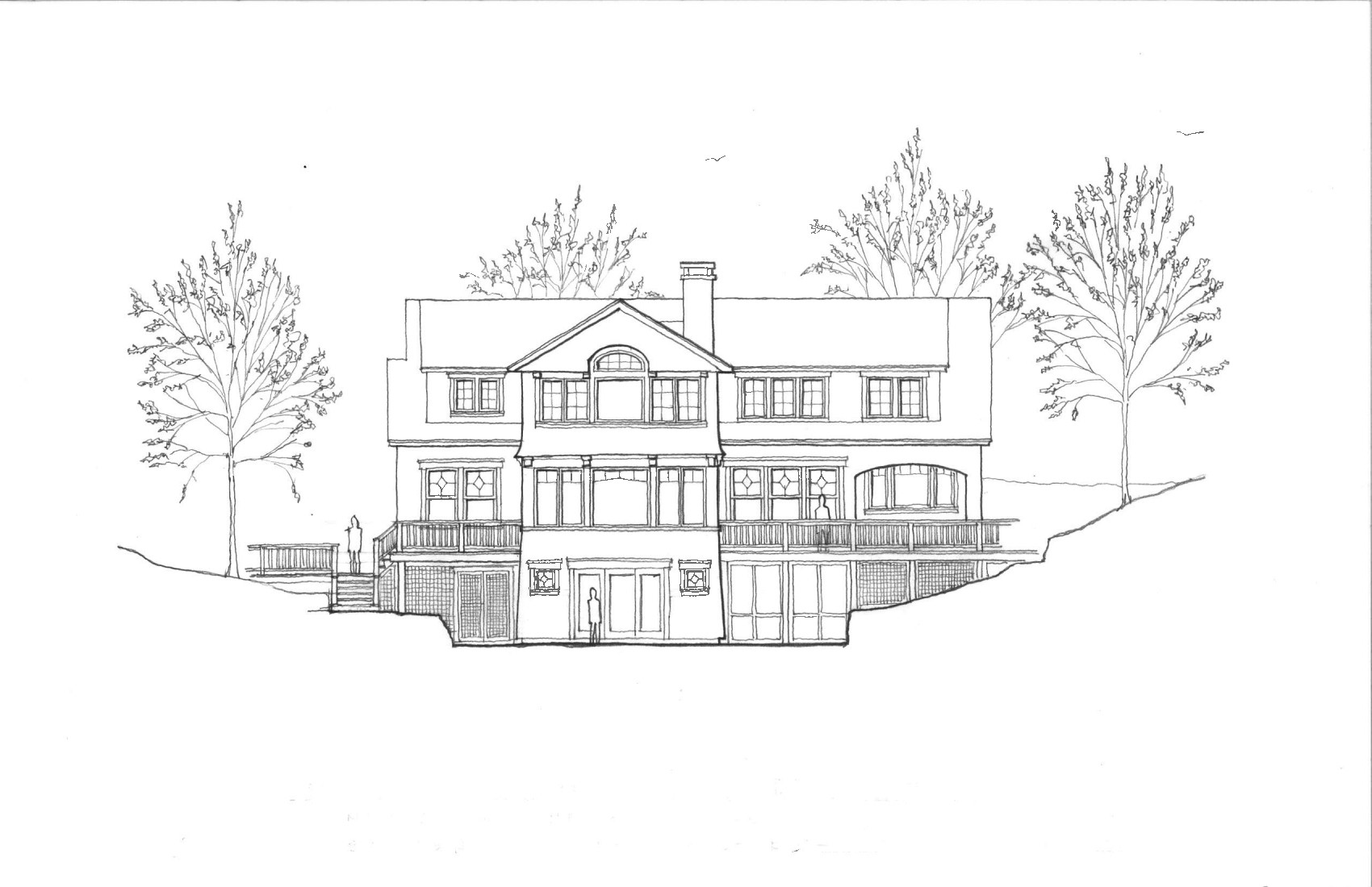 Design Sketch by Kennebunk River Architects - Residential and Commercial Architects